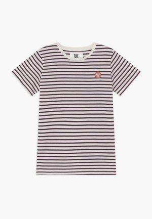 OLA KIDS - T-shirts print - off white/aubergine