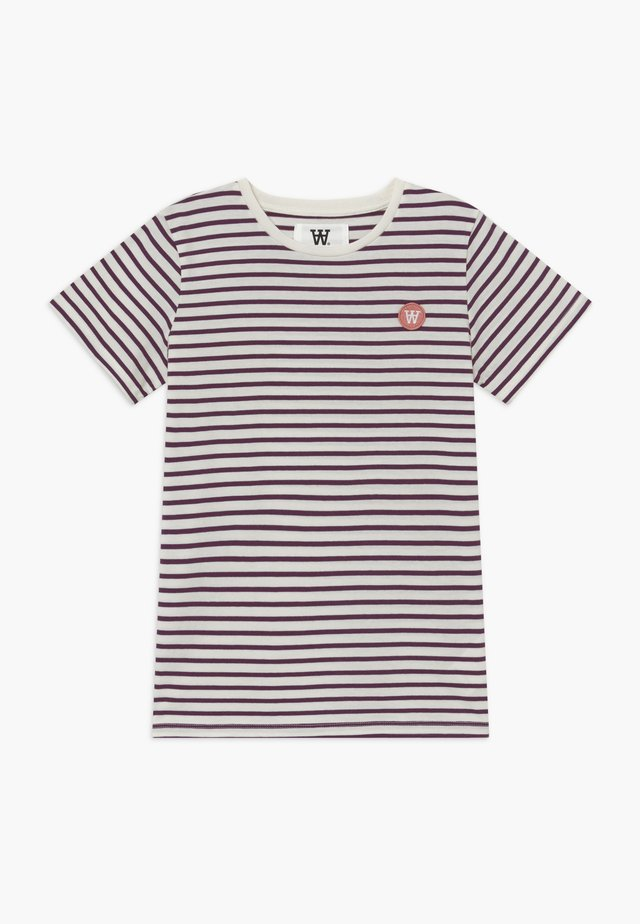 OLA KIDS - T-Shirt print - off white/aubergine