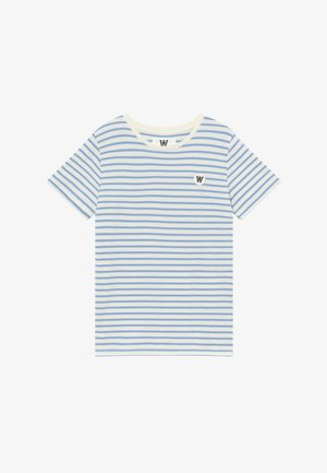 OLA KIDS - T-shirt imprimé - off white/blue stripes