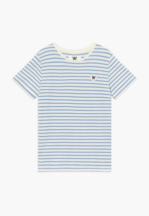 OLA KIDS - Print T-shirt - off white/blue stripes