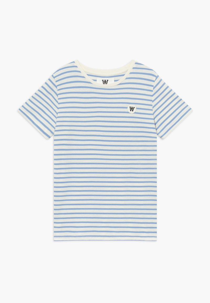 Wood Wood - OLA KIDS - Camiseta estampada - off white/blue stripes