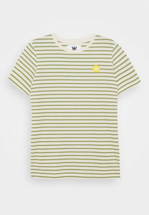 OLA KIDS - T-shirt z nadrukiem - off-white/olive