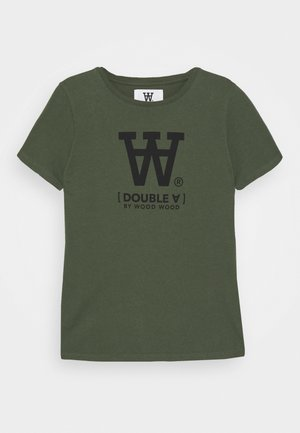 OLA KIDS - T-shirt z nadrukiem - army green