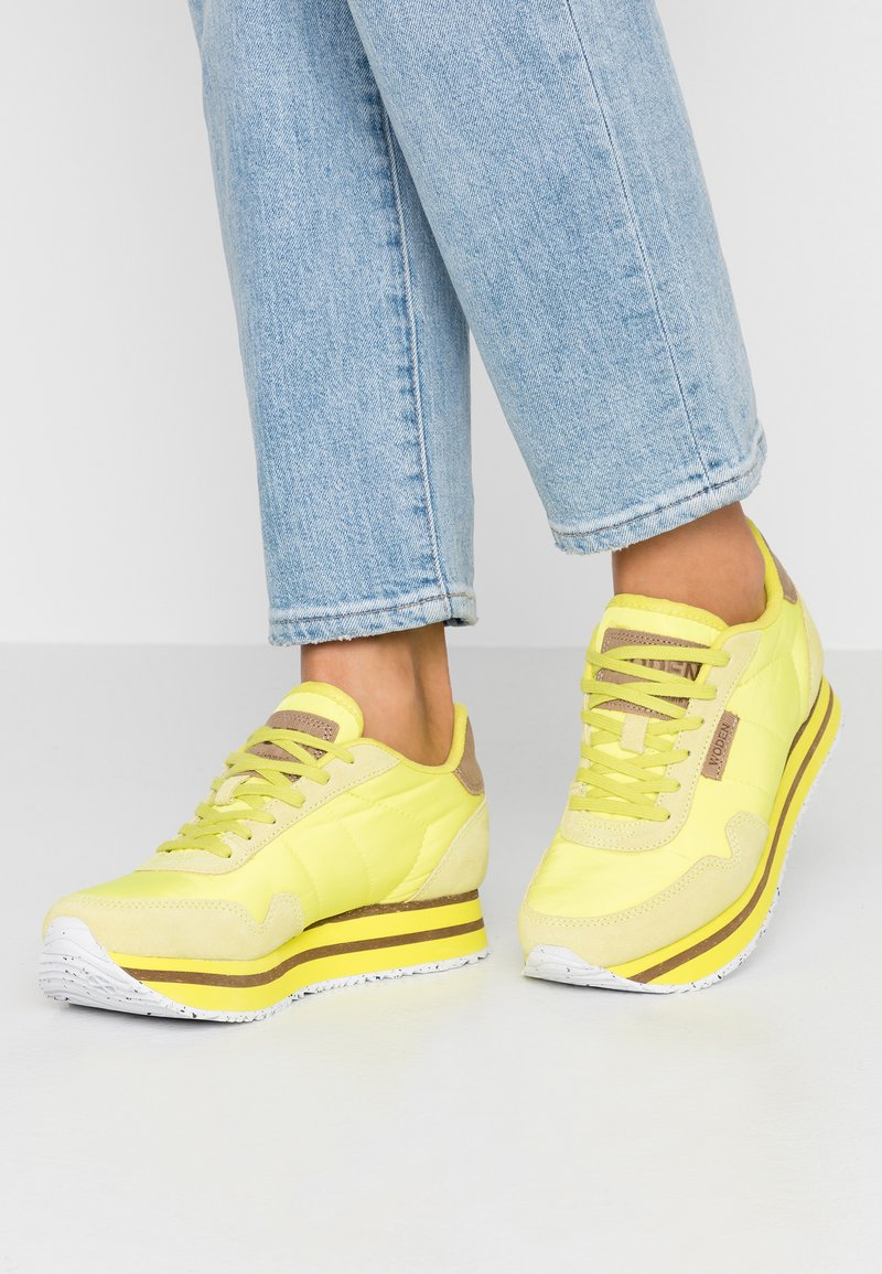 Woden - NORA PLATEAU - Trainers - neon yellow