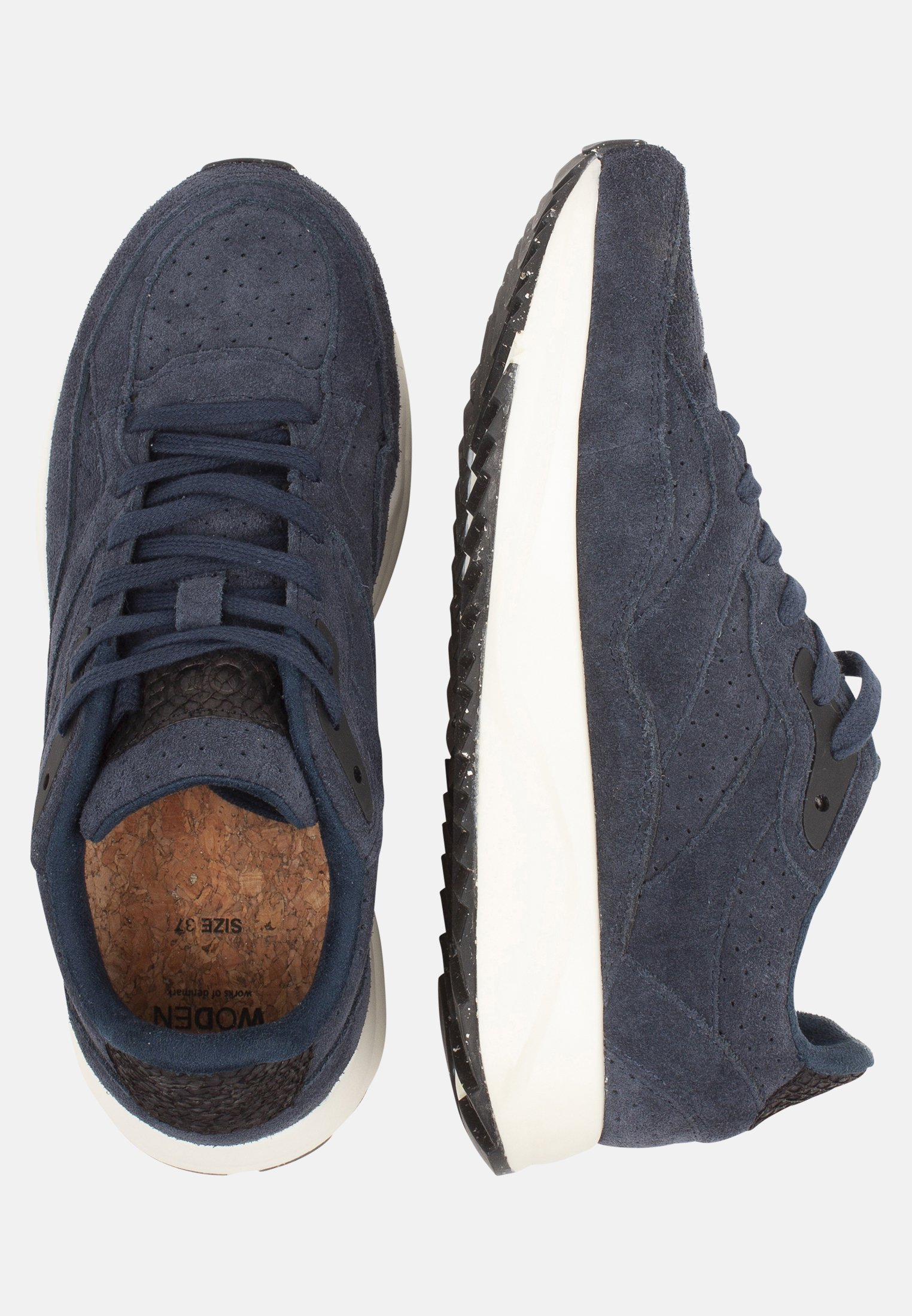 Woden Sophie- Sneakers Laag Blue