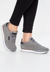 Woden - YDUN SUEDE MESH - Sneakers basse - autumn grey - 0