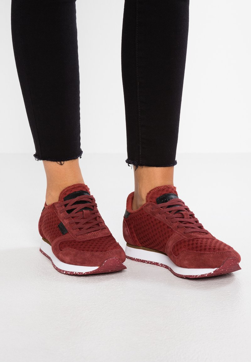 Woden - YDUN SUEDE MESH - Trainers - port wine