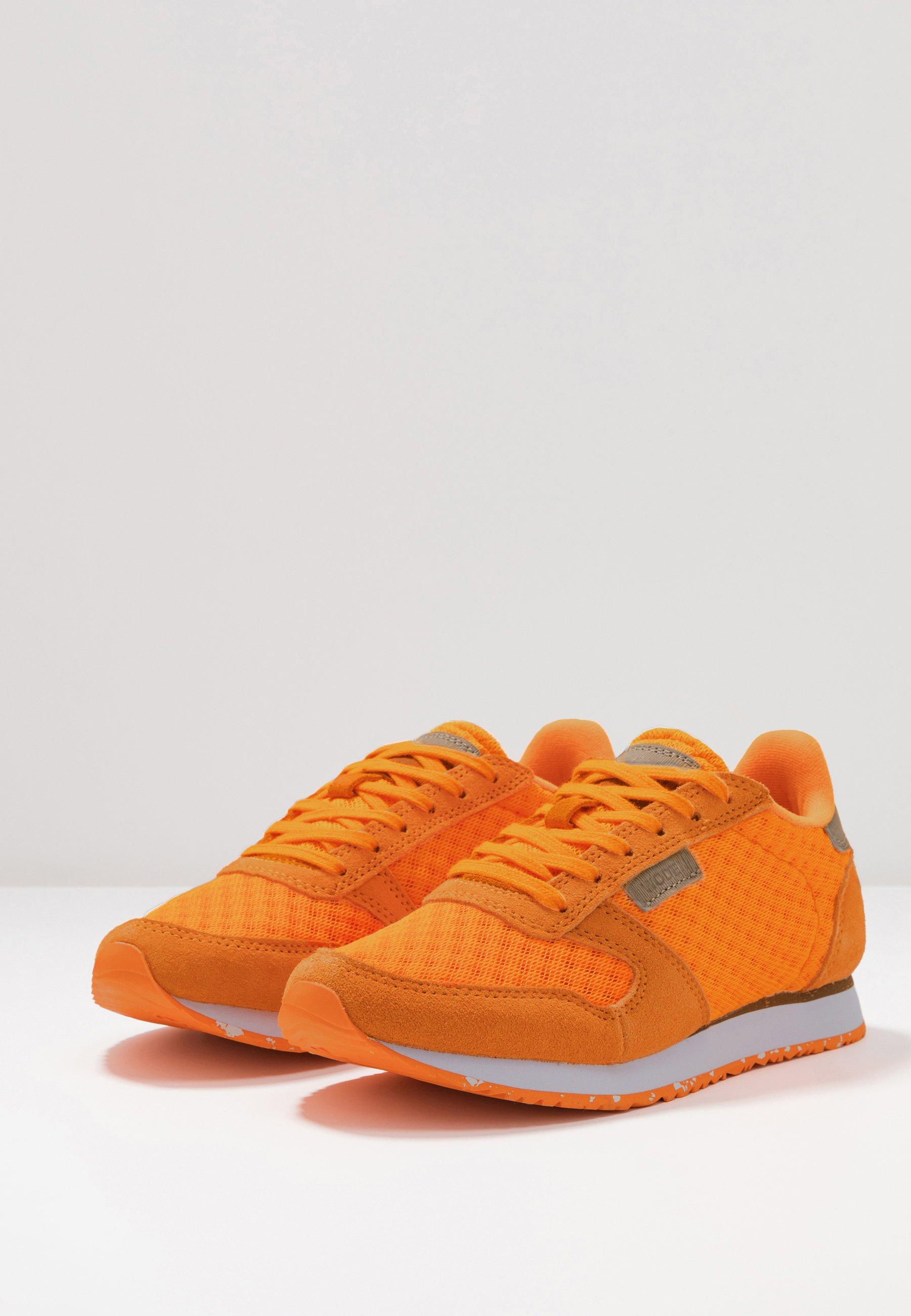 Ydun Suede Mesh Sneakers laag bright orange