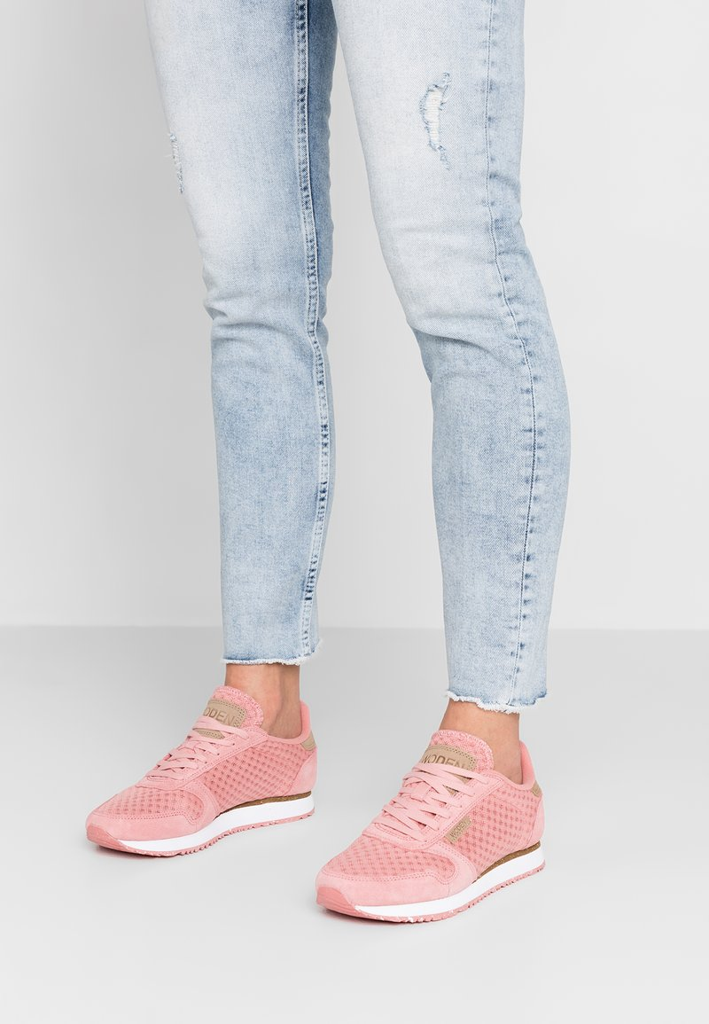 Woden - YDUN SUEDE MESH - Sneaker low - dusty rose