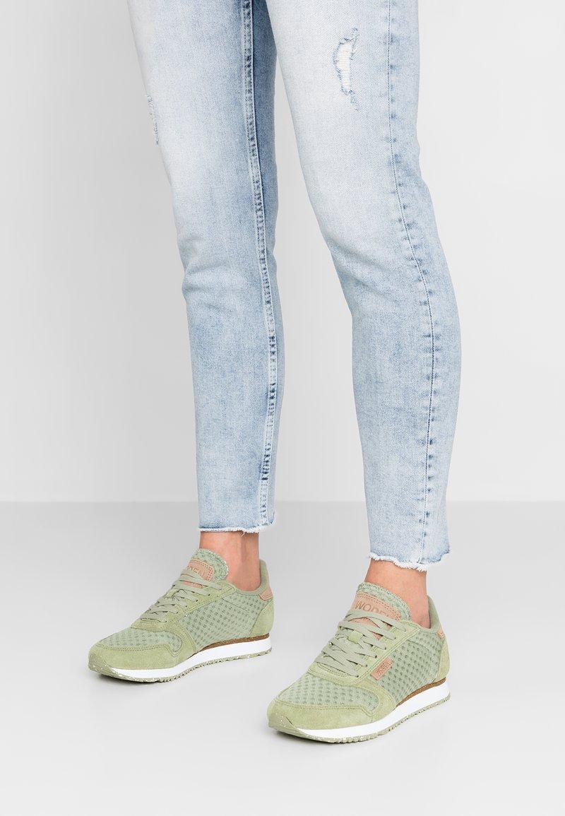 Woden - YDUN SUEDE MESH - Sneaker low - dusty olive