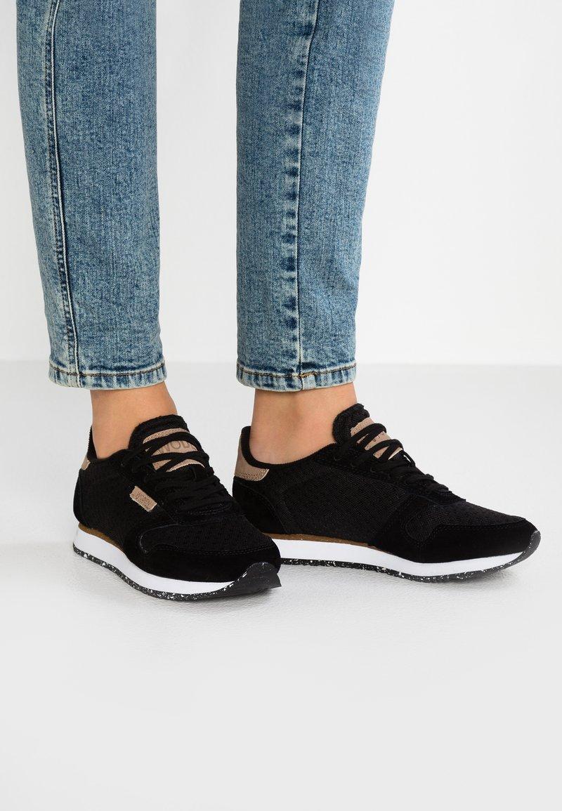 Woden - YDUN SUEDE MESH - Sneaker low - black