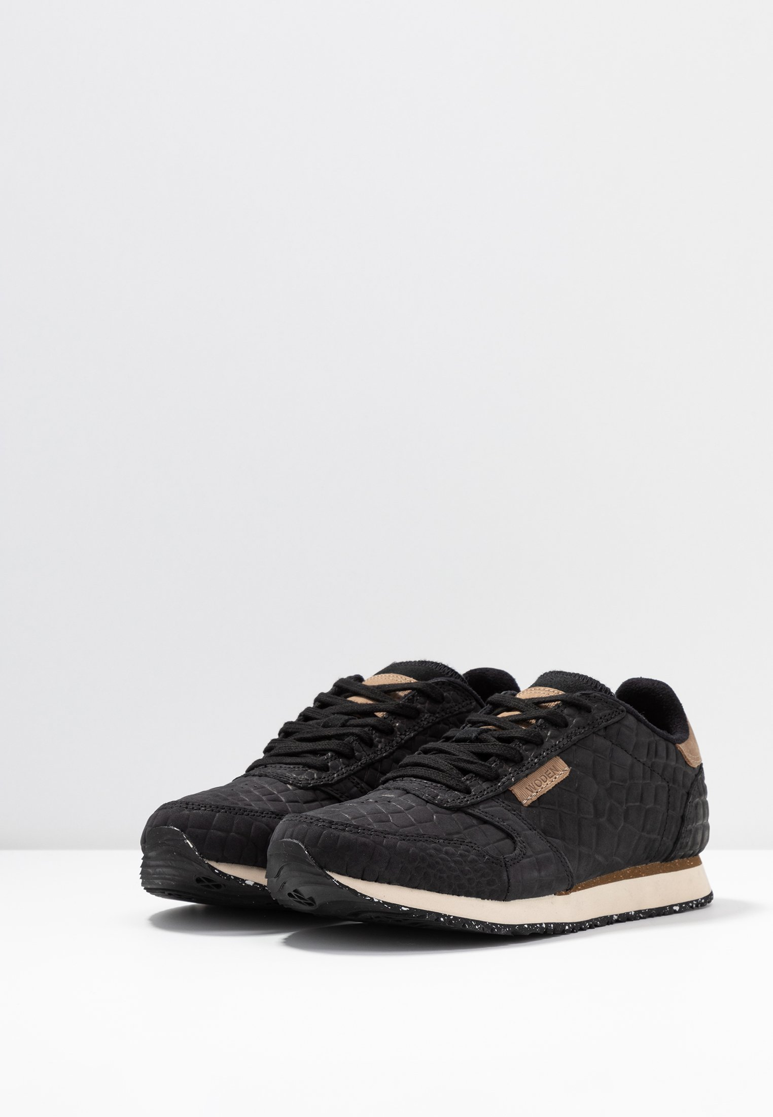 Woden YDUN CROCO - Sneakersy niskie - black