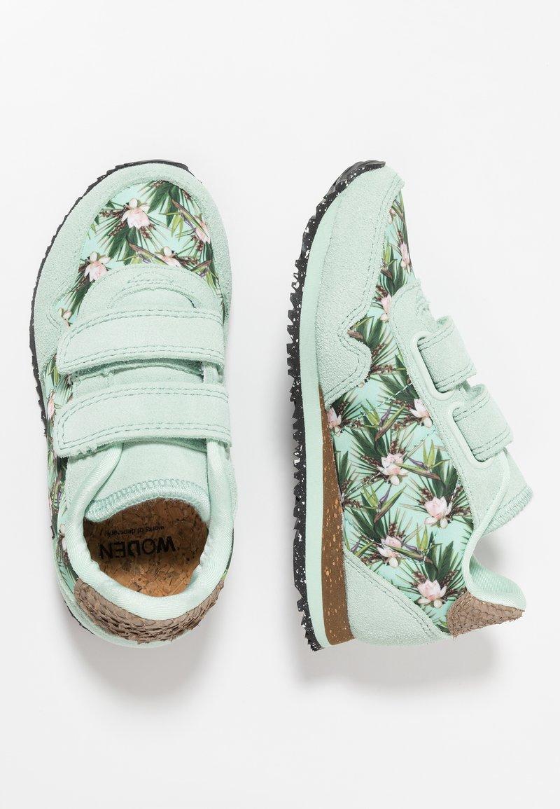 Woden - NORA FLOWER KIDS TEEN - Sneakersy niskie - misty jade