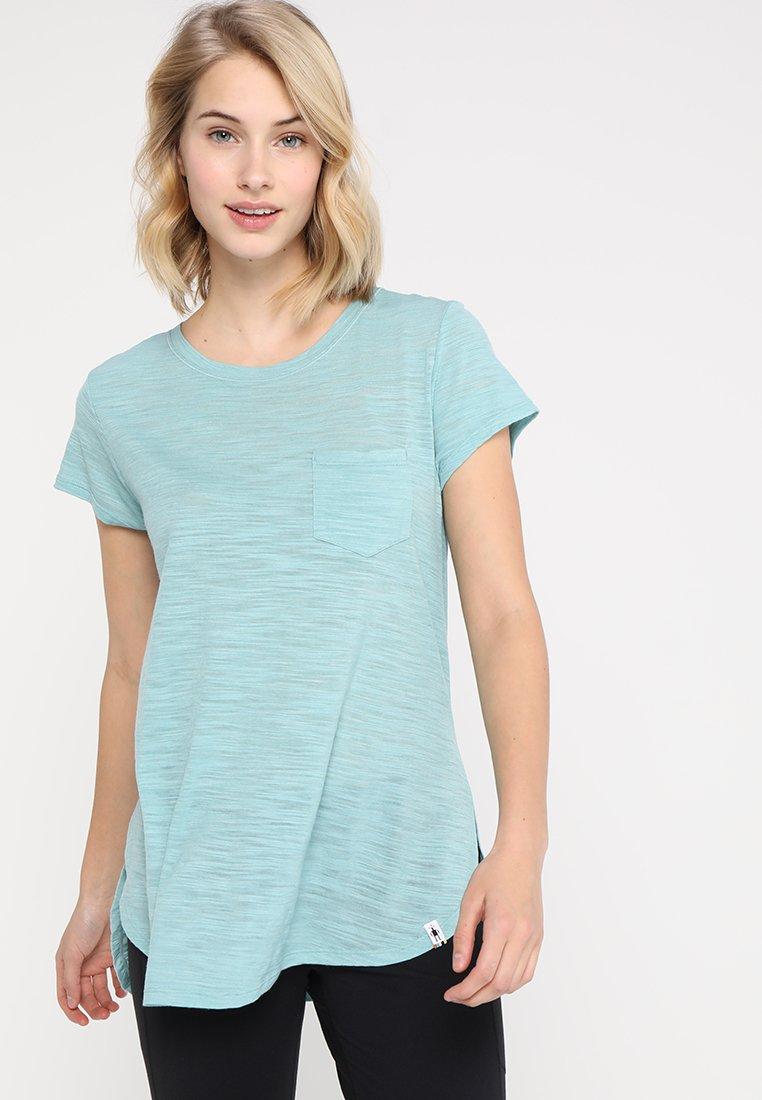 Smartwool - EVERYDAY EXPLORATION SLUB SHORT SLEEVE TEE - T-shirt con stampa - nile blue