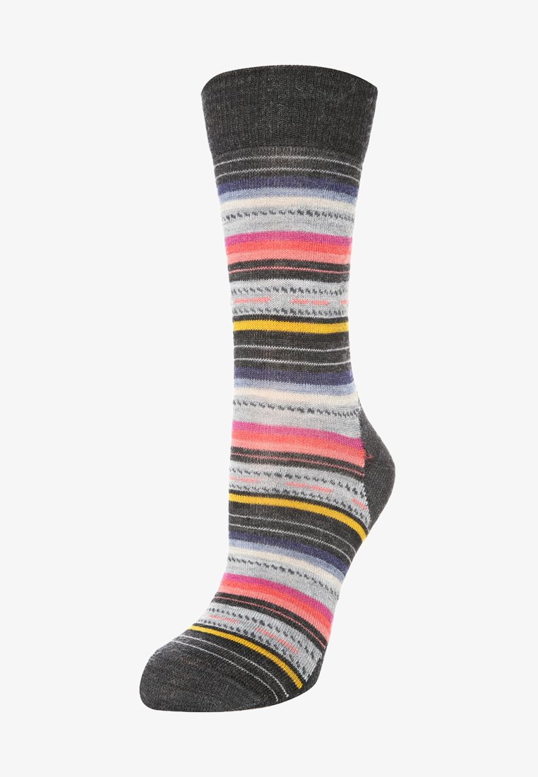 Smartwool - MARGARITA - Urheilusukat - charcoal stripe