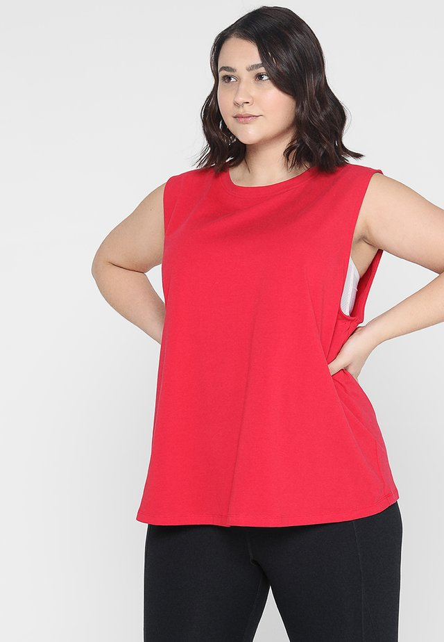 KNOT FRONT VEST CURVE - Top - red