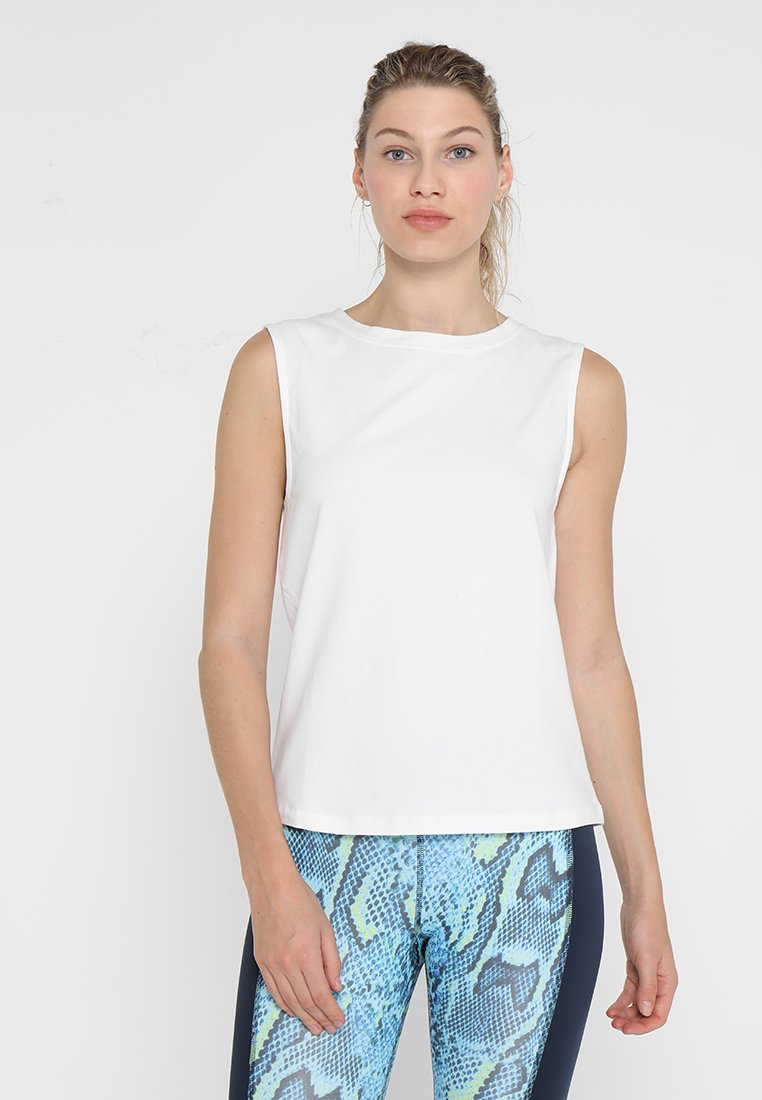 Wolf & Whistle - KNOT FRONT VEST - Top - white