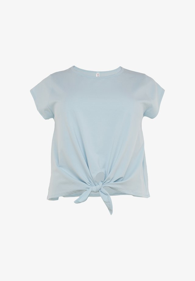TIE FRONT CURVE - T-shirt print - Light blue