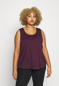 Wolf & Whistle - EXCLUSIVE - Top - plum - 0