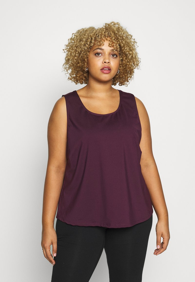 Wolf & Whistle - EXCLUSIVE - Top - plum