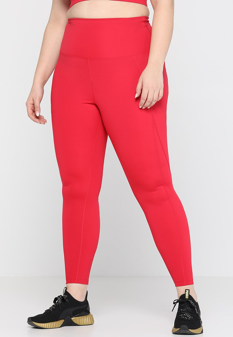 Wolf & Whistle - HIGH WAIST LEGGINGS CURVE - Collants - red