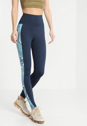 HIGH WAIST PANELLED LEGGINGS  - Tights - blue
