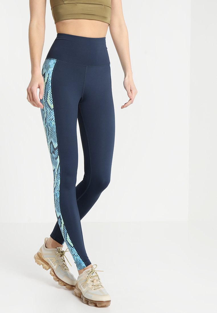 Wolf & Whistle - HIGH WAIST PANELLED LEGGINGS  - Tights - blue