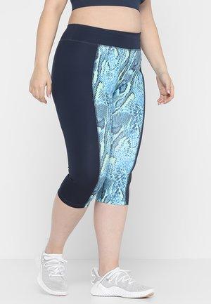 PRINTED CROP LEGGINGS CURVE  - 3/4 sports trousers - blue