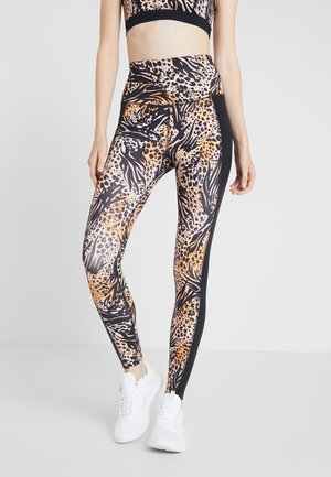 MIXED ANIMAL LEGGINGS - Collants - brown