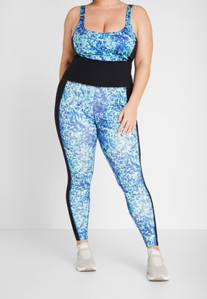 CURVE ABSTRACT LEGGINGS - Trikoot - blue