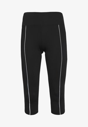EXCLUSIVE CROPPED LEGGINGS WITH REFLECTIVE STRIPS - 3/4 sports trousers - black