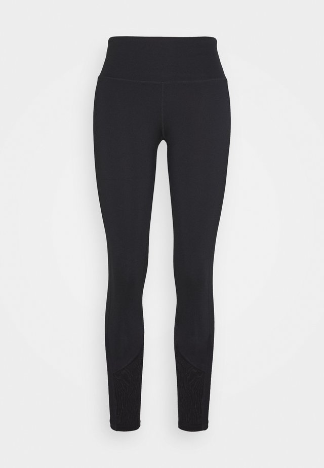 EXCLUSIVE LEGGINGS WITH PANELS - Pantaloncini 3/4 - black