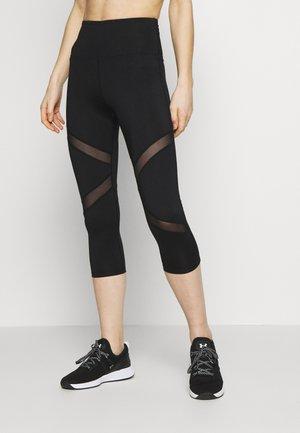 EXCLUSIVE LEGGINGS WITH PANELS - Rybaczki sportowe - black