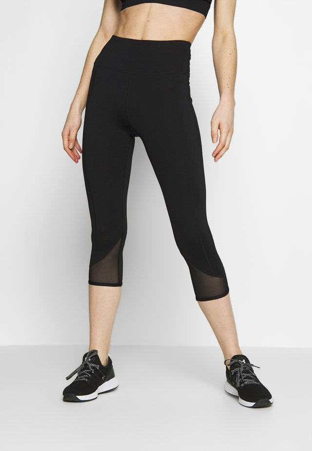 EXCLUSIVE SHORT LEGGINGS WITH PANELS - Pantaloncini 3/4 - black