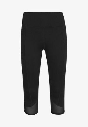 EXCLUSIVE SHORT LEGGINGS WITH PANELS - Pantalón 3/4 de deporte - black