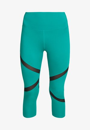 EXCLUSIVE CROPPED PANEL LEGGINGS - Tights - teal