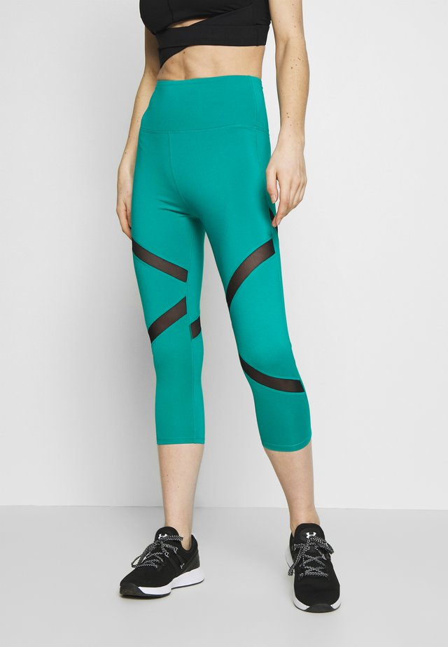 EXCLUSIVE CROPPED PANEL LEGGINGS - Legging - teal