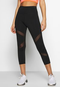 Wolf & Whistle - EXCLUSIVE CROPPED LEGGINGS - Tights - black - 0