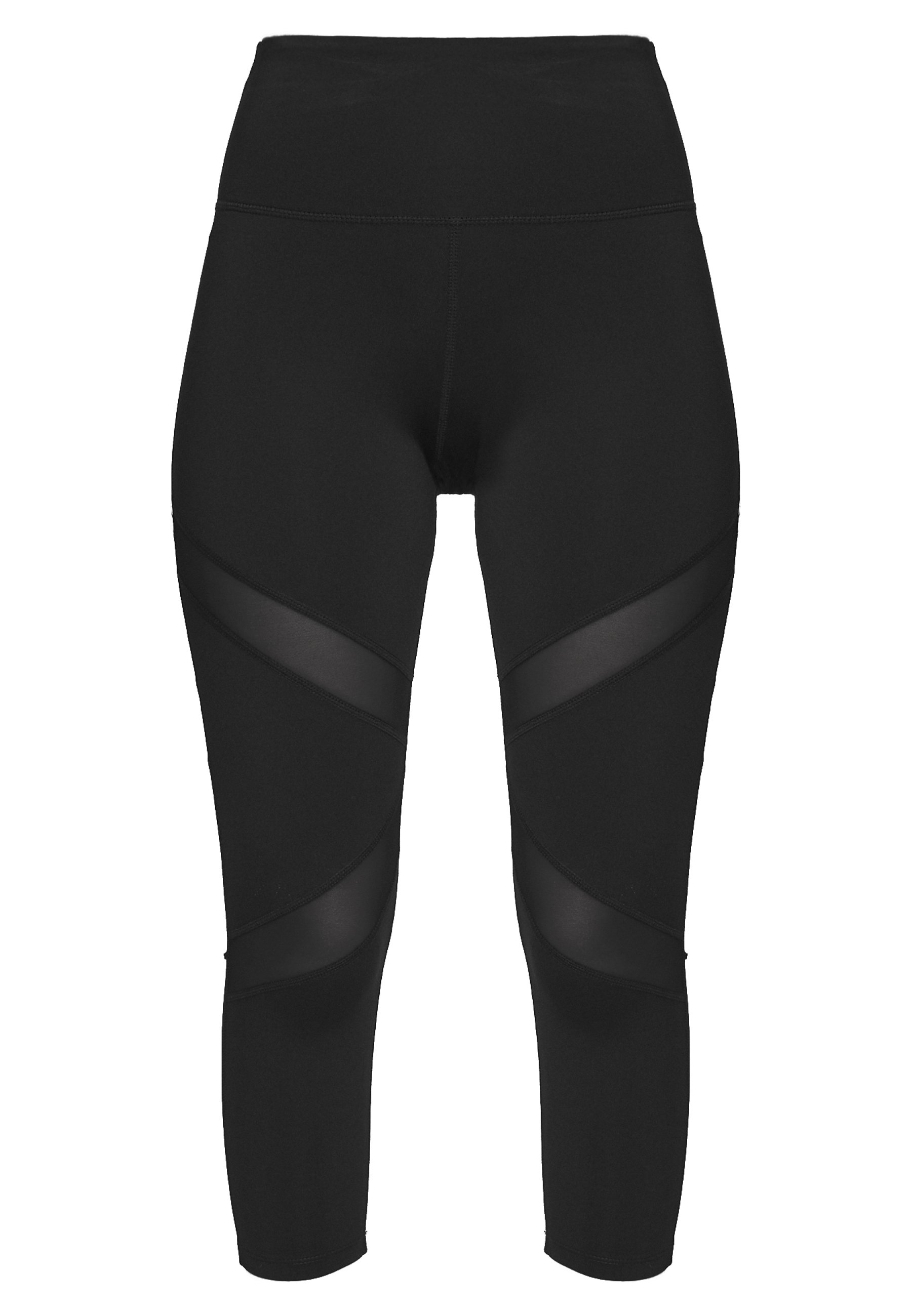 Wolf & Whistle EXCLUSIVE CROPPED LEGGINGS - Legginsy - black