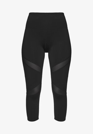 EXCLUSIVE CROPPED LEGGINGS - Punčochy - black
