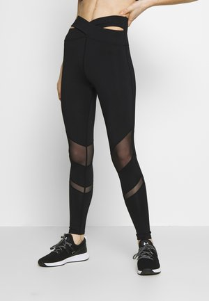 EXCLUSIVE PANEL LEGGINGS - Tights - black