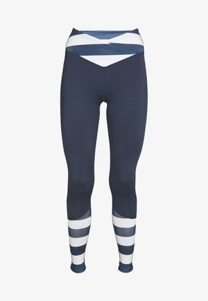 LEGGINGS WITH STRIPED PANELS - Medias - blue