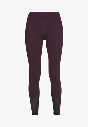 EXCLUSIVE LEGGINGS WITH PANELS - Tights - plum