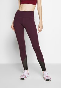 Wolf & Whistle - EXCLUSIVE LEGGINGS WITH PANELS - Tights - plum - 0