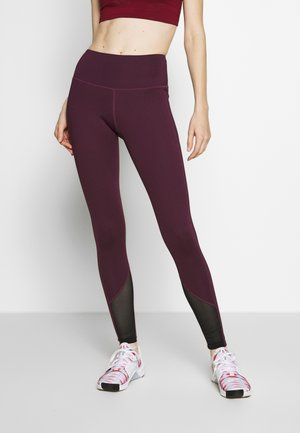 EXCLUSIVE LEGGINGS WITH PANELS - Medias - plum