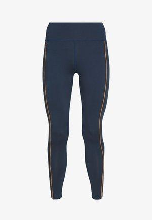 EXCLUSIVE TO ZALANDO CONTRAST PANEL LEGGINGS - Tights - navy/orange