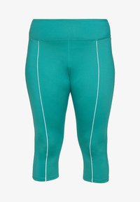 Wolf & Whistle - EXCLUSIVE LEGGINGS WITH REFLECTIVE STRIPS - 3/4 sportovní kalhoty - teal - 3