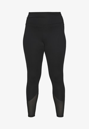 EXCLUSIVE LEGGINGS WITH PANELS - Punčochy - black