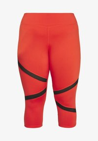 Wolf & Whistle - EXCLUSIVE CROPPED PANEL LEGGINGS - 3/4 sportovní kalhoty - red - 3