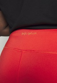 Wolf & Whistle - EXCLUSIVE CROPPED PANEL LEGGINGS - 3/4 sportovní kalhoty - red - 4